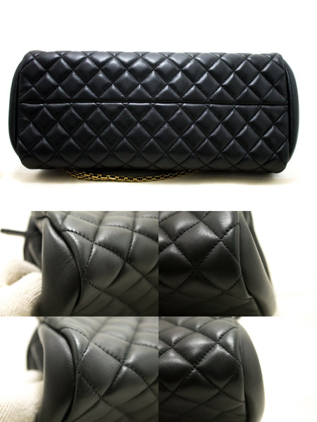 Chanel Black Quilted Lambskin Just Mademoiselle Bowling (SHB-10119)