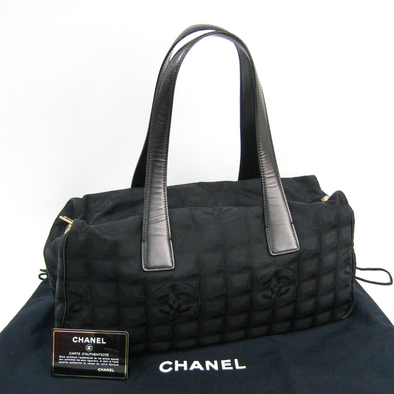 Chanel Black Nylon New Travel Line Boston (SHA-45328)
