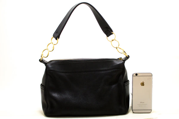 Chanel Black Caviar Leather CC Shoulder Bag  (SHB-10171)