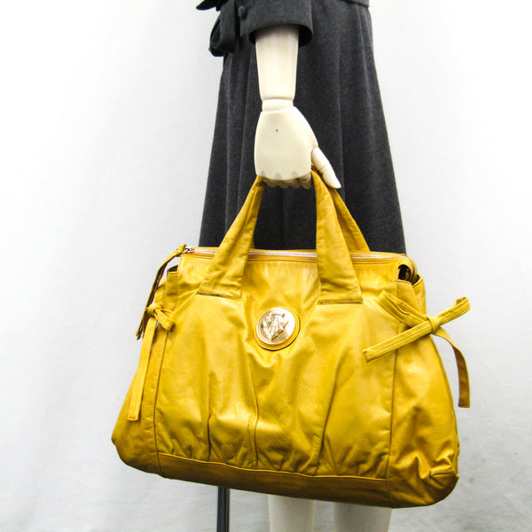 Gucci Yellow Leather Hysteria Satchel (SHA-35339)