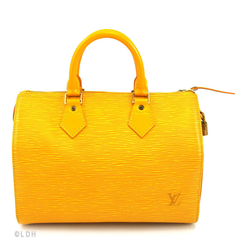 Louis Vuitton Yellow Epi Speedy 25 (Authentic Pre Owned)