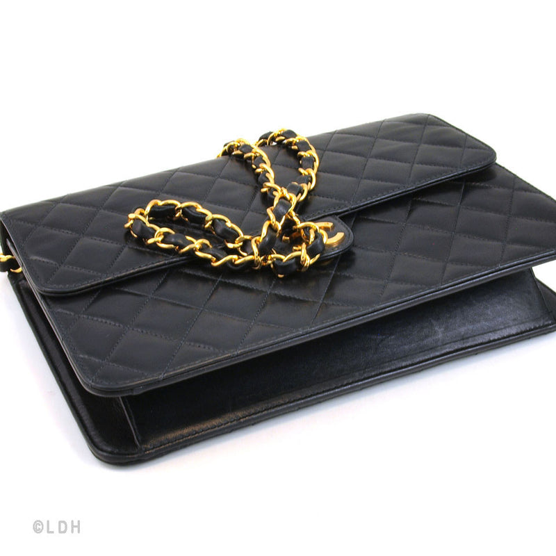 Chanel Classic Black Lambskin Flap (Authentic Pre Owned)