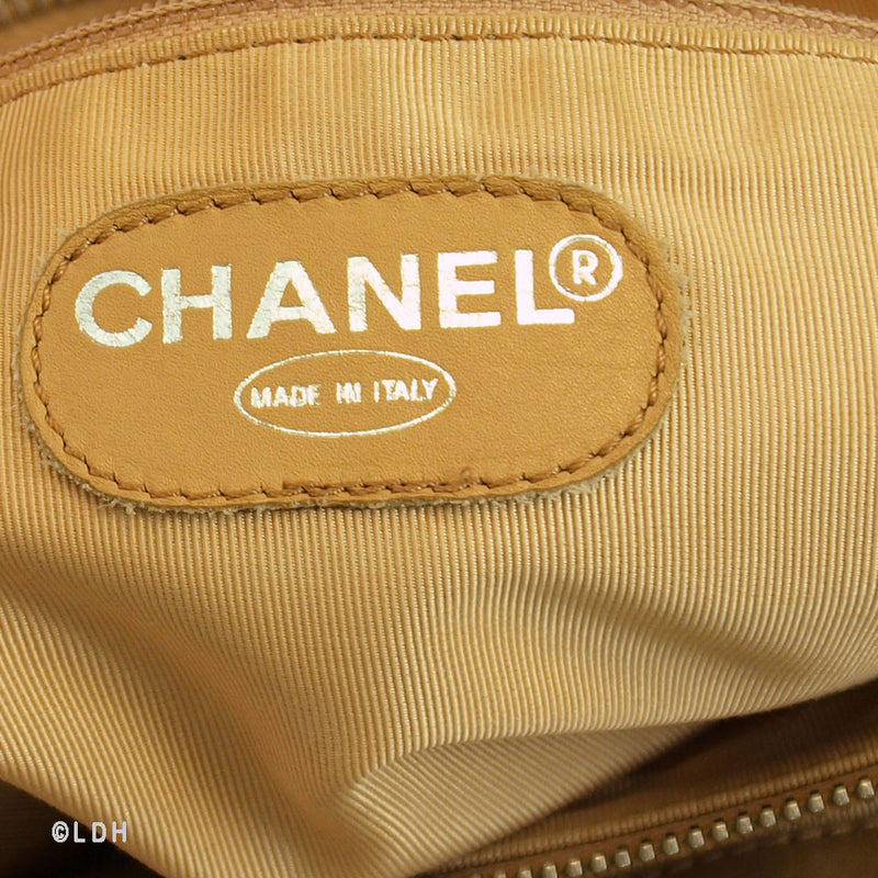 Chanel Tan Lambskin Shopping Tote (Authentic Pre Owned)