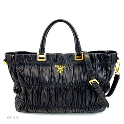 Prada Gauffre Tote with Strap (Authentic Pre Owned)