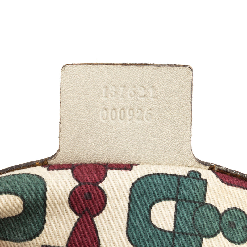 Gucci White Leather Pelham Slouch Bag (Authentic Pre Owned)