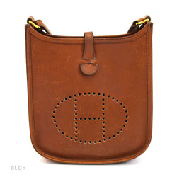 Hermes Veau Graine Coucherel Brown Evelyn TPM Stamped  (Authentic Pre Owned)