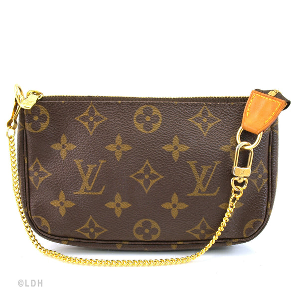 Louis Vuitton Monogram Chain Pochette (Authinthic Pre Owned)