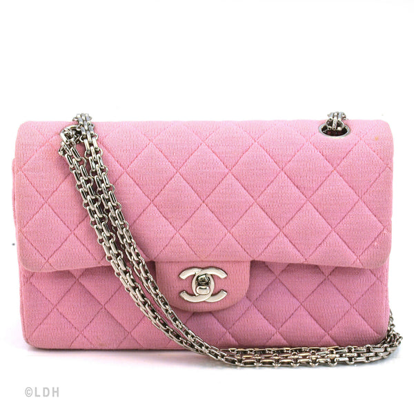 Chanel Quilted Fabric  Double Flap (Authentic Pre Owned)