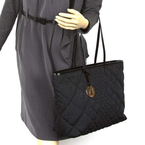 Fendi Zucca Quilted Tote Bag (Authentic Pre Owned)
