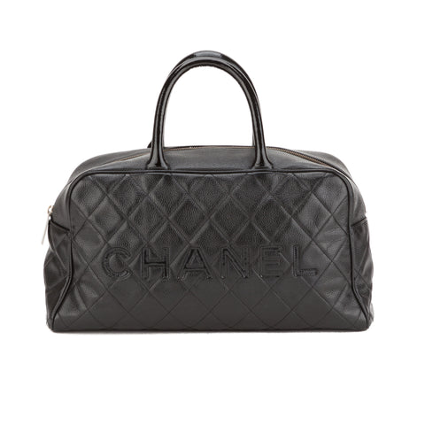 Chanel Black Caviar Bowler Bag (Authentic Pre Owned)