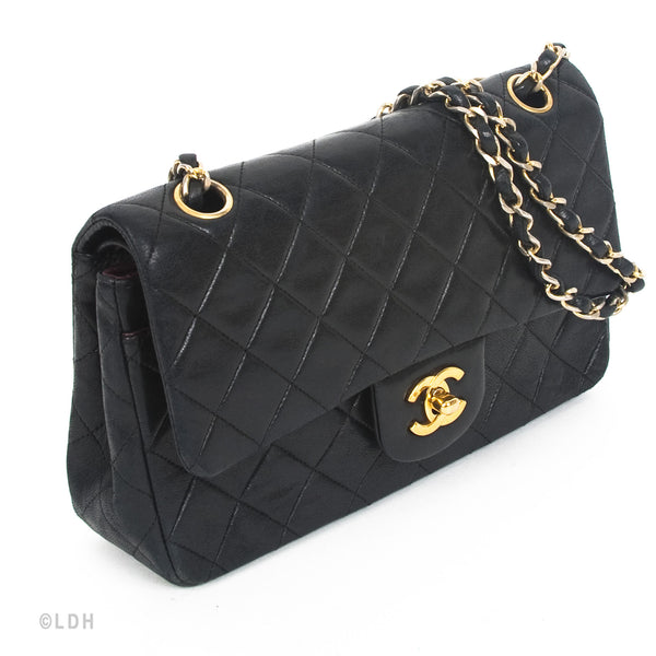 Chanel Quilted Lambskin Double Flap (Authentic Pre Owned)