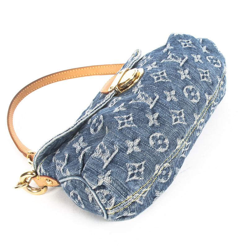 Louis Vuitton Monogram Denim Pleaty (Authentic Pre Owned)