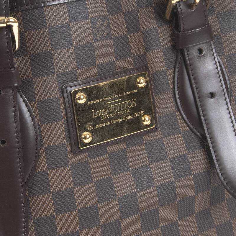 Louis Vuitton Damier Ebene Hampstead PM (Authentic Pre Owned)