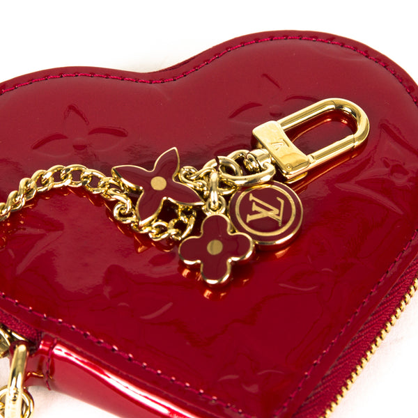 Louis Vuitton Heart Coin Purse Vernis ( Authentic Pre Owned )