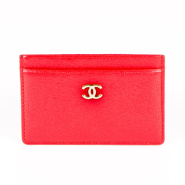 4ae015bd8f84ae Chanel Red Leather Card Case (Authentic Pre-Owned) - 1751003 | LuxeDH
