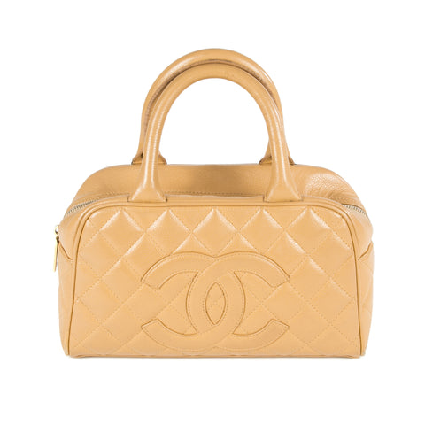 Chanel Beige Caviar Bowler (Authentic Pre-Owned)