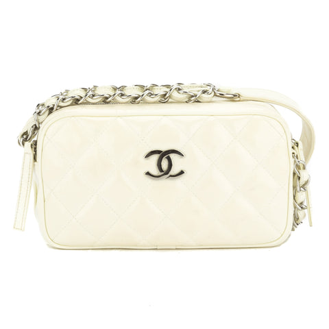 Chanel Beige Patent Shoulder Bag (Authentic Pre Owned)