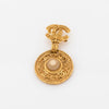 Chanel Gold Pearl Brooch (Pre Owned)