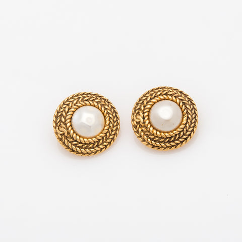Chanel Pearl Earrings (Authentic Pre Owned)