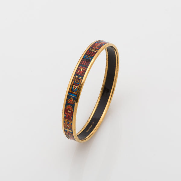 Hermes Narrow Printed Enamel Bracelet (Pre Owned)