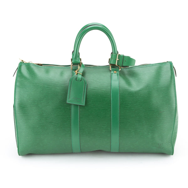 Louis Vuitton Green Epi Keepall 45 (Authentic Pre Owned)