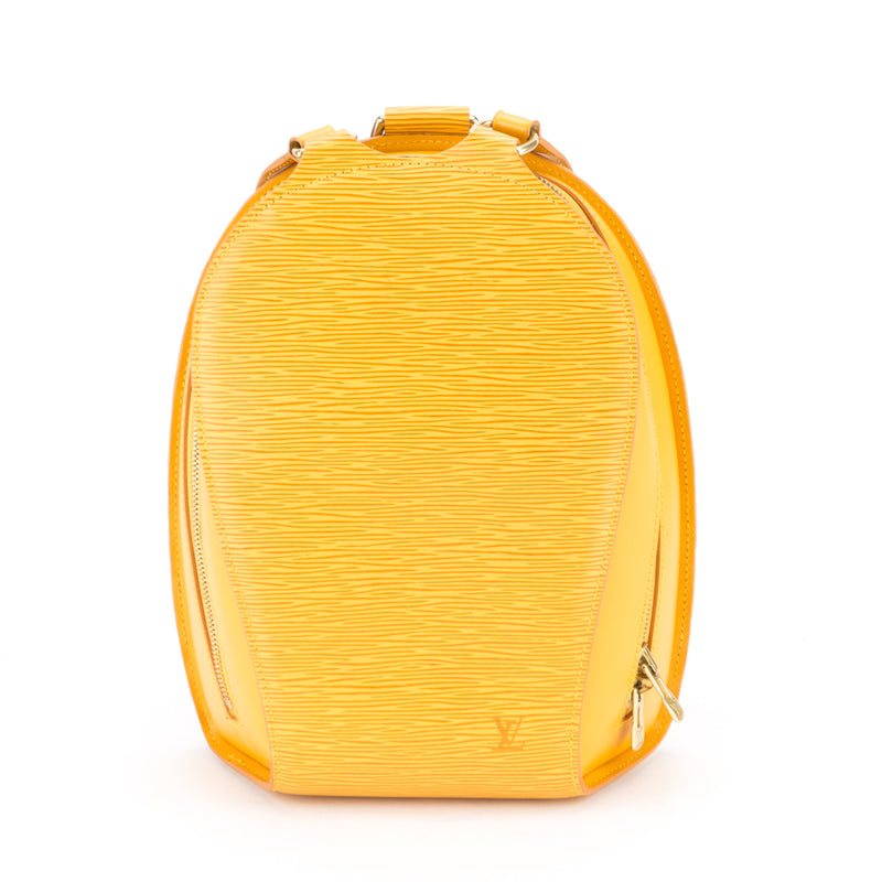 Louis Vuitton Yellow Epi Mabillon Backpack (Authentic Pre Owned)