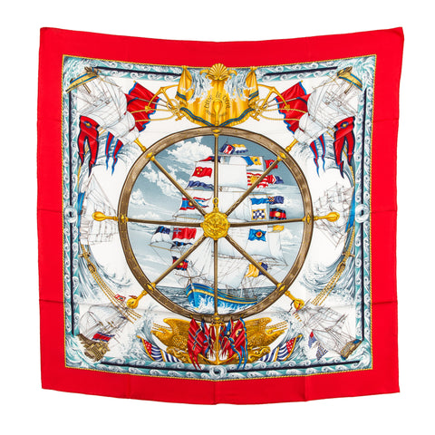 Hermes Silk Scarf Vive le vent (Authentic Pre Owned)