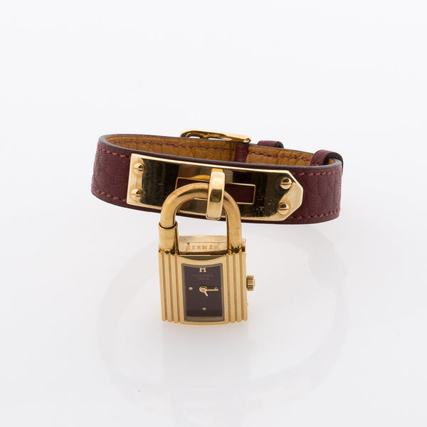 Hermes Leather Kelly Watch (Authentic Pre Owned)