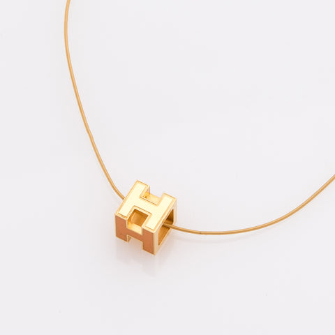 Hermes H Square Necklace  (Authentic Pre Owned)