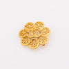 Chanel Gold CC Brooch (Pre Owned)