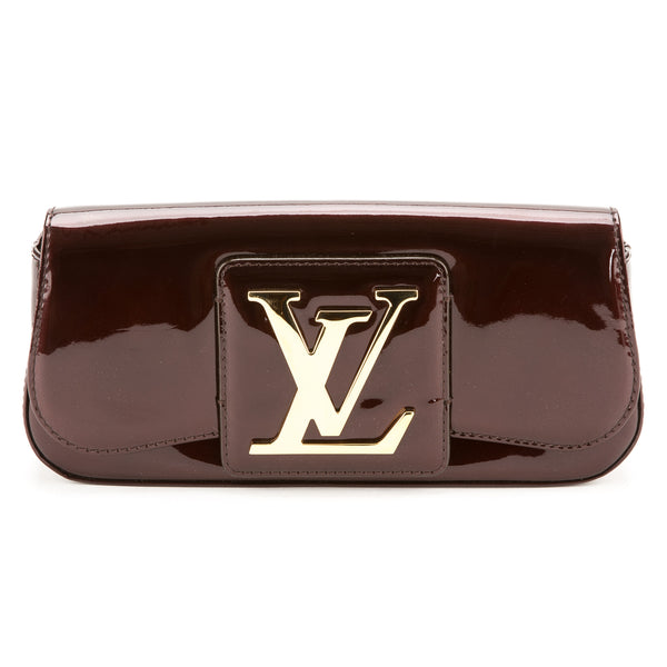 7799b81bfeb6 Louis Vuitton Burgundy Vernis Sobe Clutch (Authentic Pre Owned ...