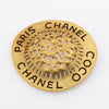 Chanel CC Logo Gold Brooch (Pre Owned)