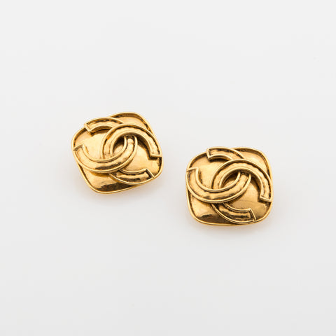 Chanel CC Clip Earrings (Authentic Pre Owned)