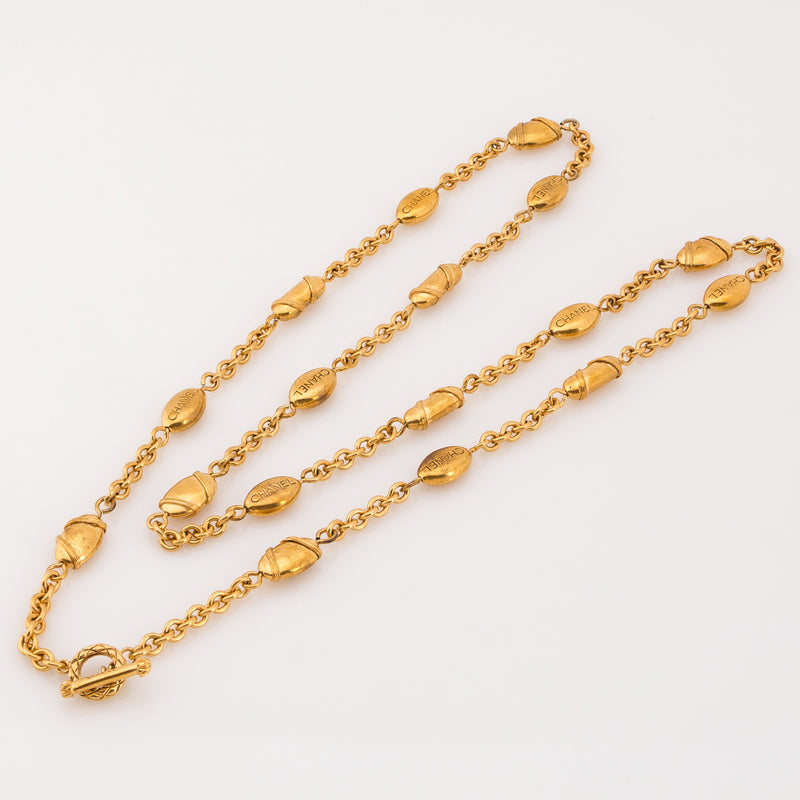 Chanel Gold CC Necklace (Pre Owned)