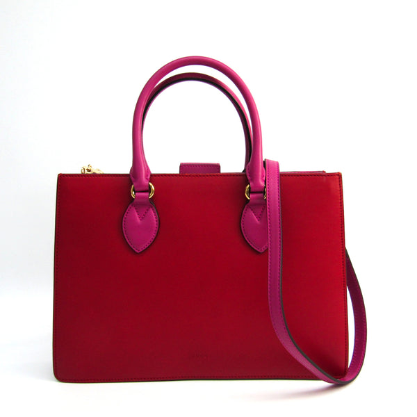 Gucci Red Leather Top Handle Bag (SHA-36931)