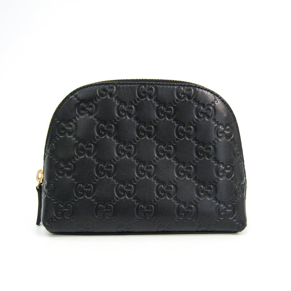 Gucci Black Guccissima Leather Coin Purse (SHA-37664)
