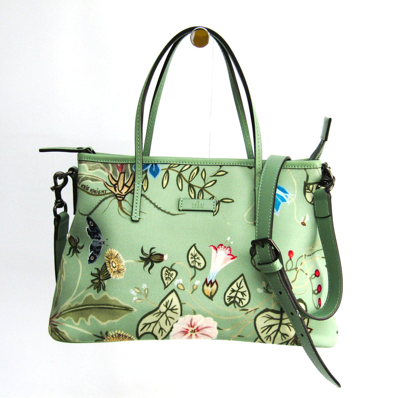 Gucci Green Printed Canvas Kris Knight Tote  (SHA-36978)