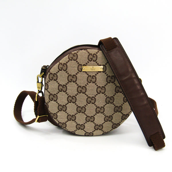 Gucci Brown Monogram Canvas Circle Crossbody Bag Mini (SHA-38456)