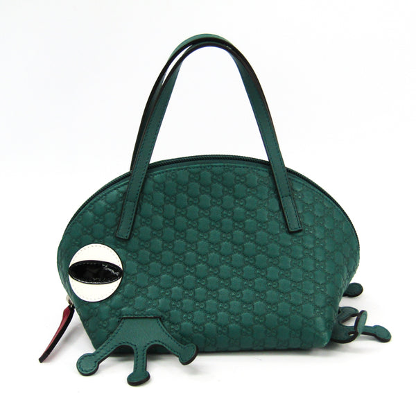 Gucci Green Guccissima Leather Zoo Top Handle Bag (SHA-28740)