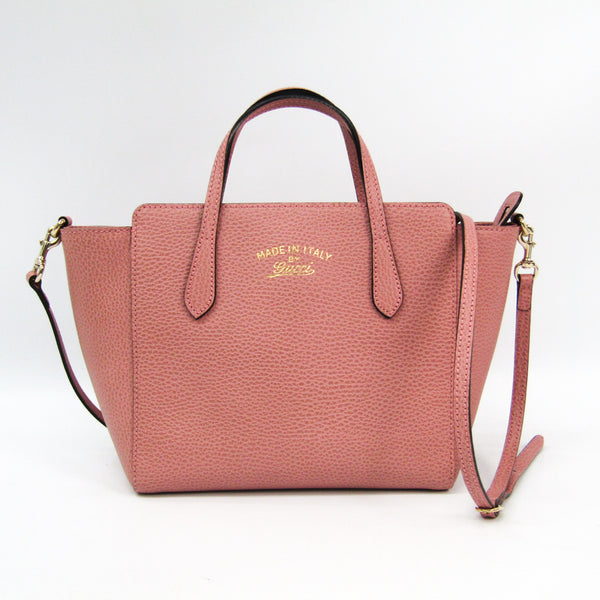 Gucci Pink Leather Swing Tote (SHA23092)
