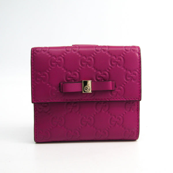 Gucci Pink Guccissima Leather Wallet (SHA-27600)