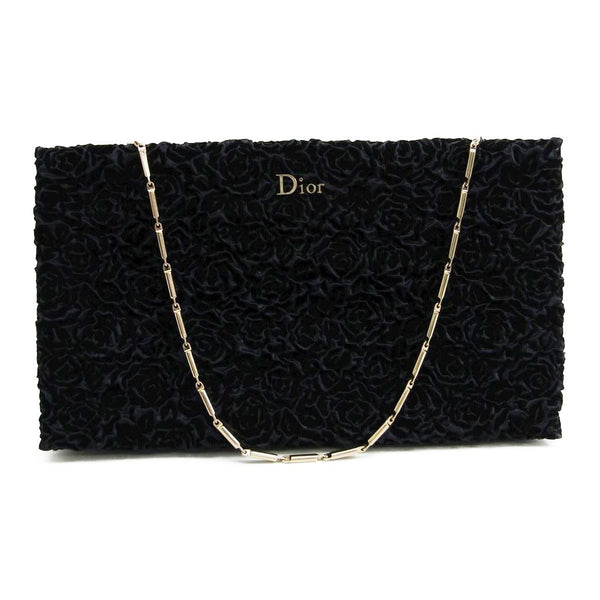 Christian Dior Blue Velvet Evening Shoulder Bag (SHA-11188)