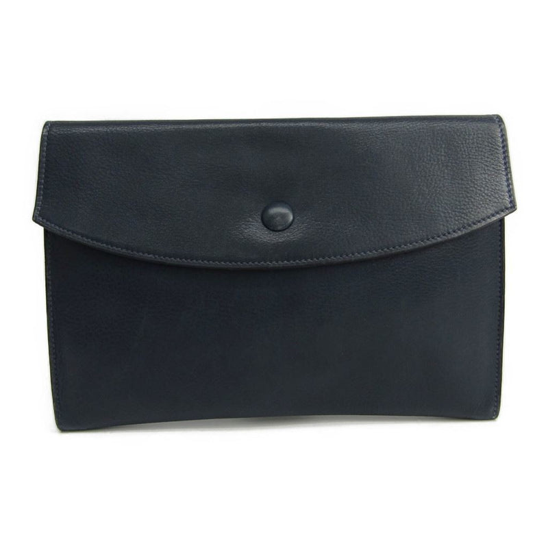 Hermes Navy Leather Pouch (SHA16502)