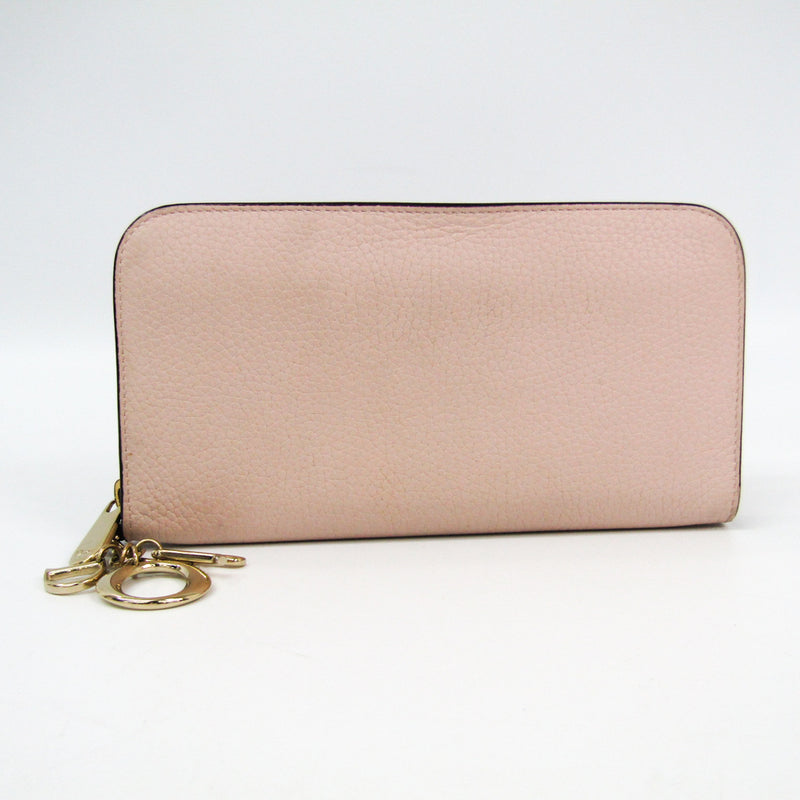 Christian Dior Pink Leather Diorissimo Voyageur Organizer Wallet Long (SHA-12127)