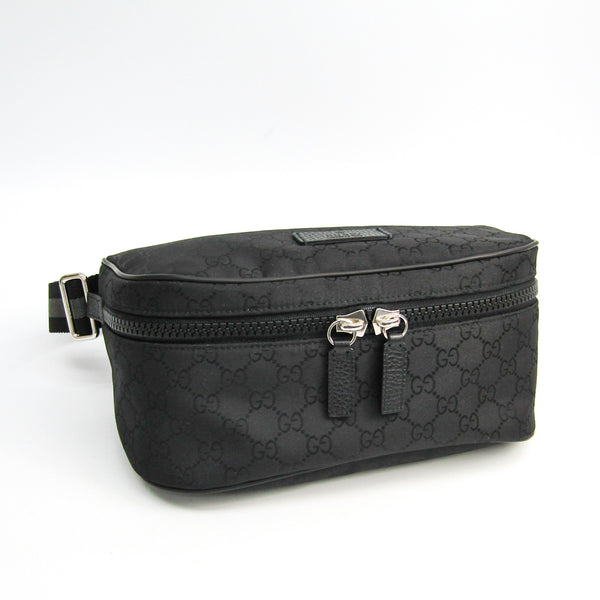 Gucci Black Monogram Nylon Canvas Bum Bag (SHA-38448)
