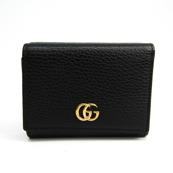 Gucci Black Leather Marmont Wallet (SHA23785)