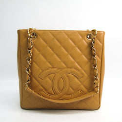 Chanel Beige Quilted Caviar Petit Shopping Tote PST (SHA-36391)