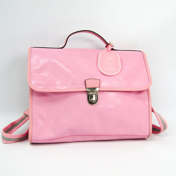 Gucci Pink GG Imprime Teddy Bear Backpack (SHA11413)