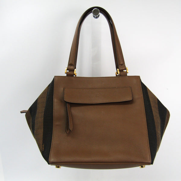 Fendi Brown Pequin Striped Medium Satchel (SHA25287)
