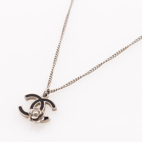 Chanel Silver CC Necklace (Authentic Pre Owned)
